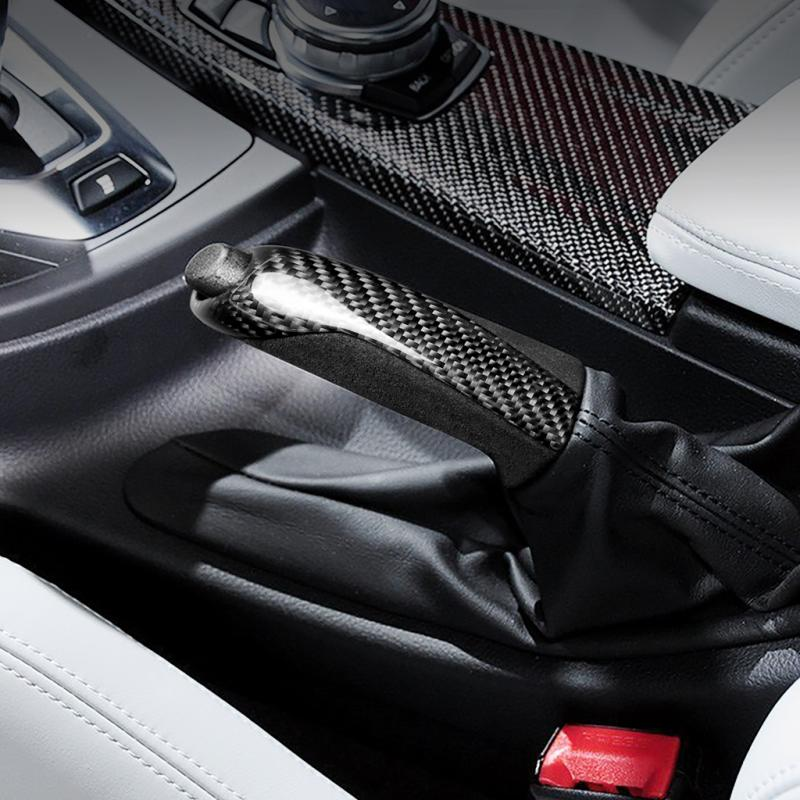 Carbon Fiber Car Handbrake Grips Cover Case For BMW Series 1 2 3 5 M3 M4 F80 F82 F83 Interior Styling Accessories