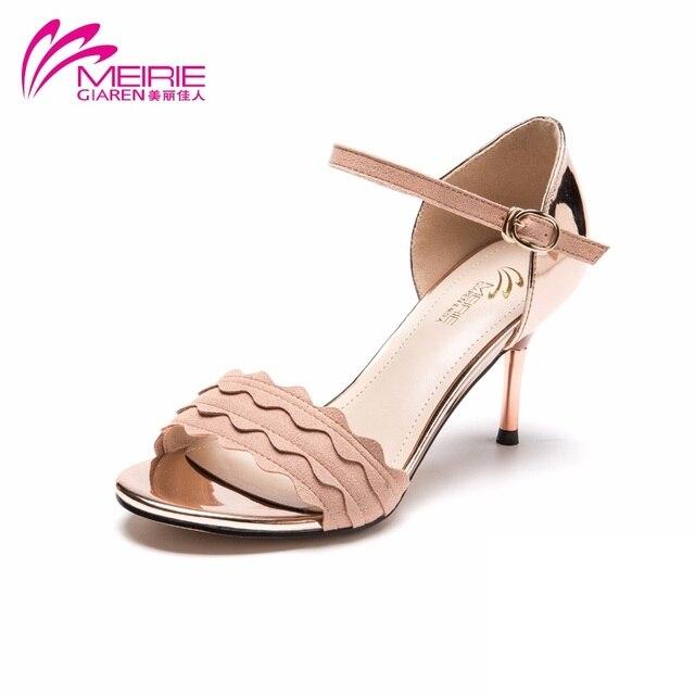 YUCH Ladies' Cool Boots avec Le Poisson Bouche Chaussures pour L'Été,Gris,37