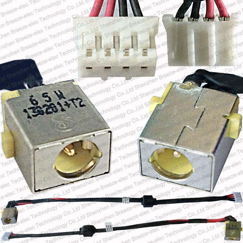 100% new Laptop AC DC Power Jack socket cable connector wire for Acer Aspire E1-532 E1-571 50.M8EN2.002 1set blue neutrik nac3fca powercon connector 20a ac cable power apacter socket