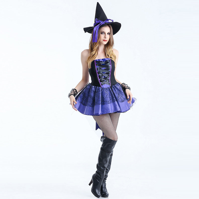 Adult Sexy Gothic Queen Witch Costumes Outfit Dress Fancy Cosplay Carnival Costume Sexy Dresses Halloween Costumes For Women (6)