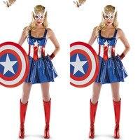 Ulike Fashion Clothes NEW Halloween Women Dress Wonder Woman Cosplay Dress Adult Sexy Dress Cartoon Character
