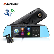 Sale TOPSOURCE New 7″ Special 3G Mirror Rearview Car DVR Camera Android 5.0 With GPS Navigation Automoblie Video Recorder Dash Camera