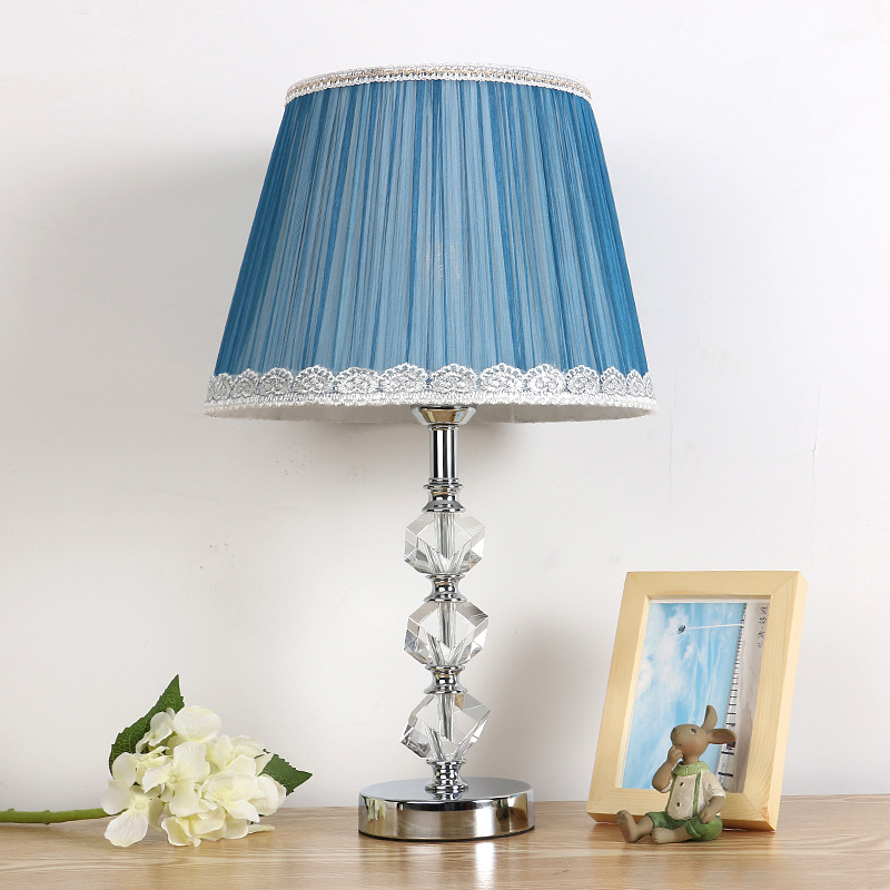 TUDA Free Shipping Multicolor Optional European Style K9 Crystal Table Lamp Fashion Design Home Decor For Bedroom Living Room european style crystal droplight 15 heads k9 crystal with free shipping