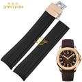 Pulsera de caucho de silicona correa de reloj de pulsera impermeable relojes de pulsera correa de banda de 21mm medida de la correa hebilla para 5164a5167a