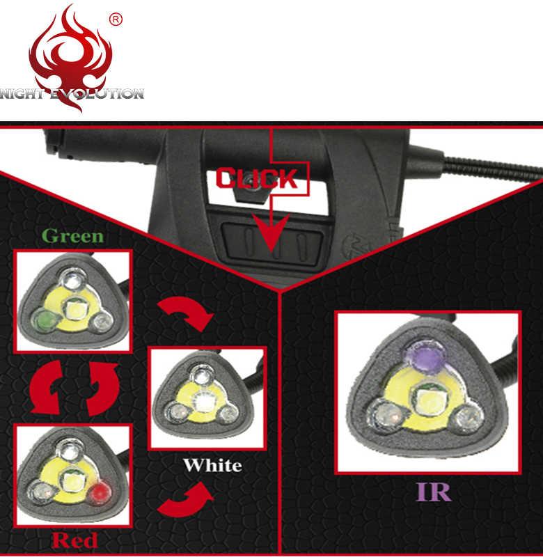 Element mpls lanterna de capacete airsoft ne05006, acessório de capacete militar e rápido, com 4 modos, verde, vermelho, ir