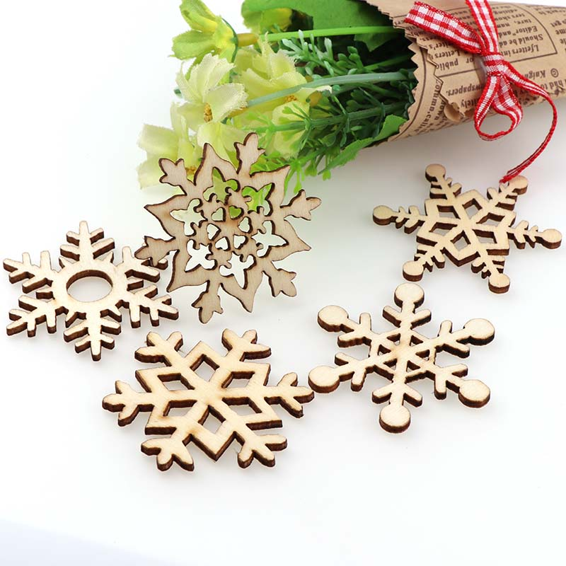 embellishment Christmas gift Premium Wooden MDF Snowflake craft decoration