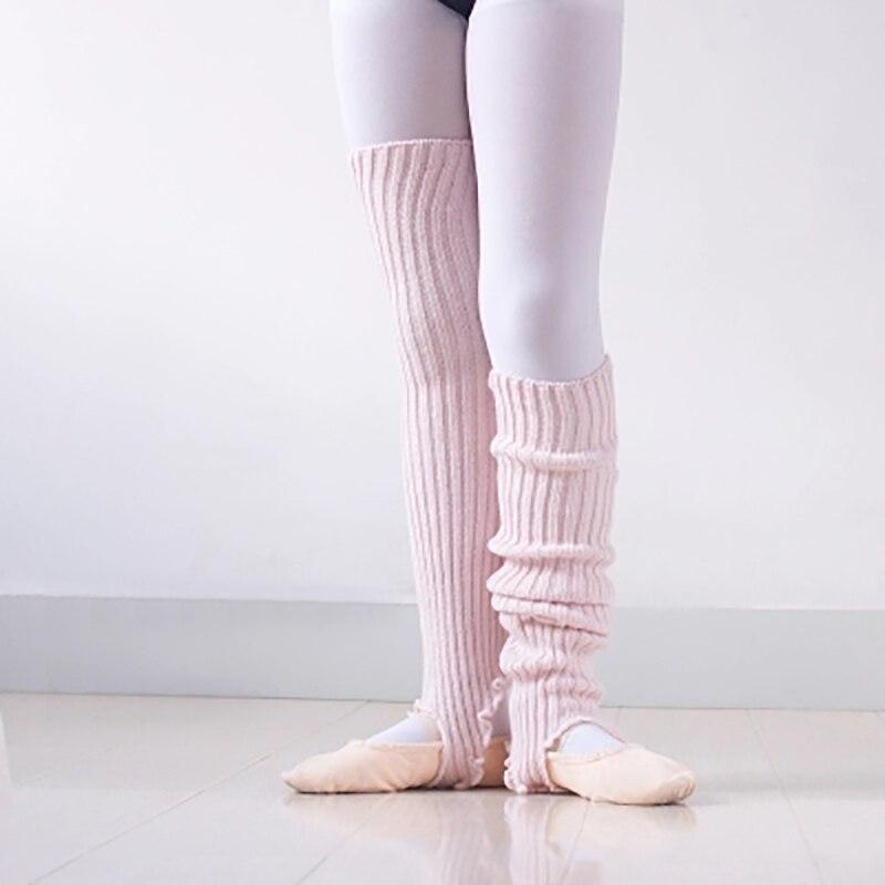 Collectie Hier 2019 Nieuwe Meisjes Zachte Dans Sokken Kinderen Gebreide Ballet Dans Beenwarmers Kinderen Opgewarmd Latin Dans Thermische Lagguard Met Gat