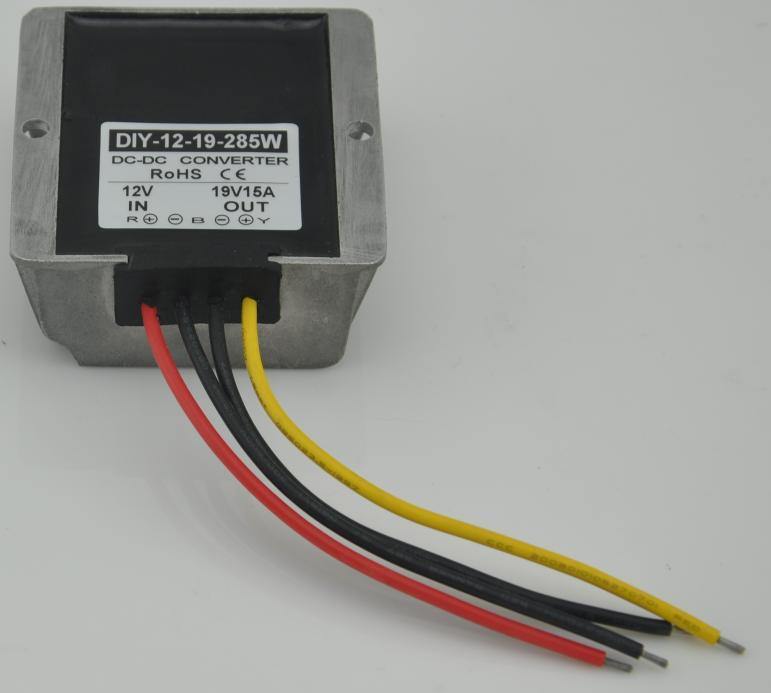 Converter 12V (9V 18V) To 19V 15A 285W DC DC Step Up Boost Power Module Regulator Waterproof