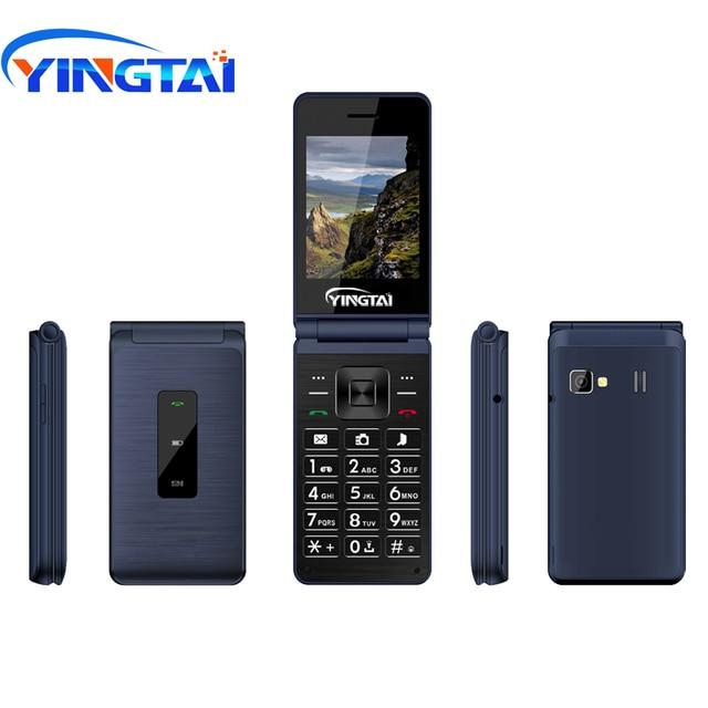 Celular yingai t39l original, telefone gsm, com flip, fm, dual sim, 2.8 polegadas, botão clamshell, desbloqueado, 2g celular móvel