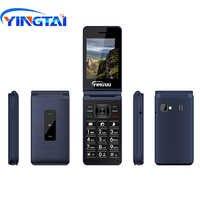 Mejor Teléfono Original YINGTAI T39L GSM flip teléfonos móviles antorcha FM Dual SIM 2,8 pulgadas clamshell botón desbloqueado 2G teléfono móvil