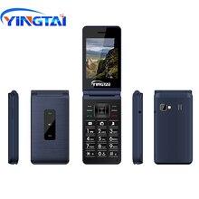 הטוב ביותר המקורי YINGTAI T39L טלפון GSM flip טלפונים סלולרי FM לפיד Dual SIM 2.8 אינץ צדפה כפתור סמארטפון 2G נייד טלפון