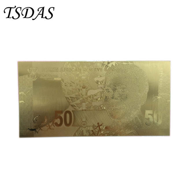 Online Shop Wholesale 50 Rand Gold Banknote South Africa Replica Money As Birthday Gifts For Collection