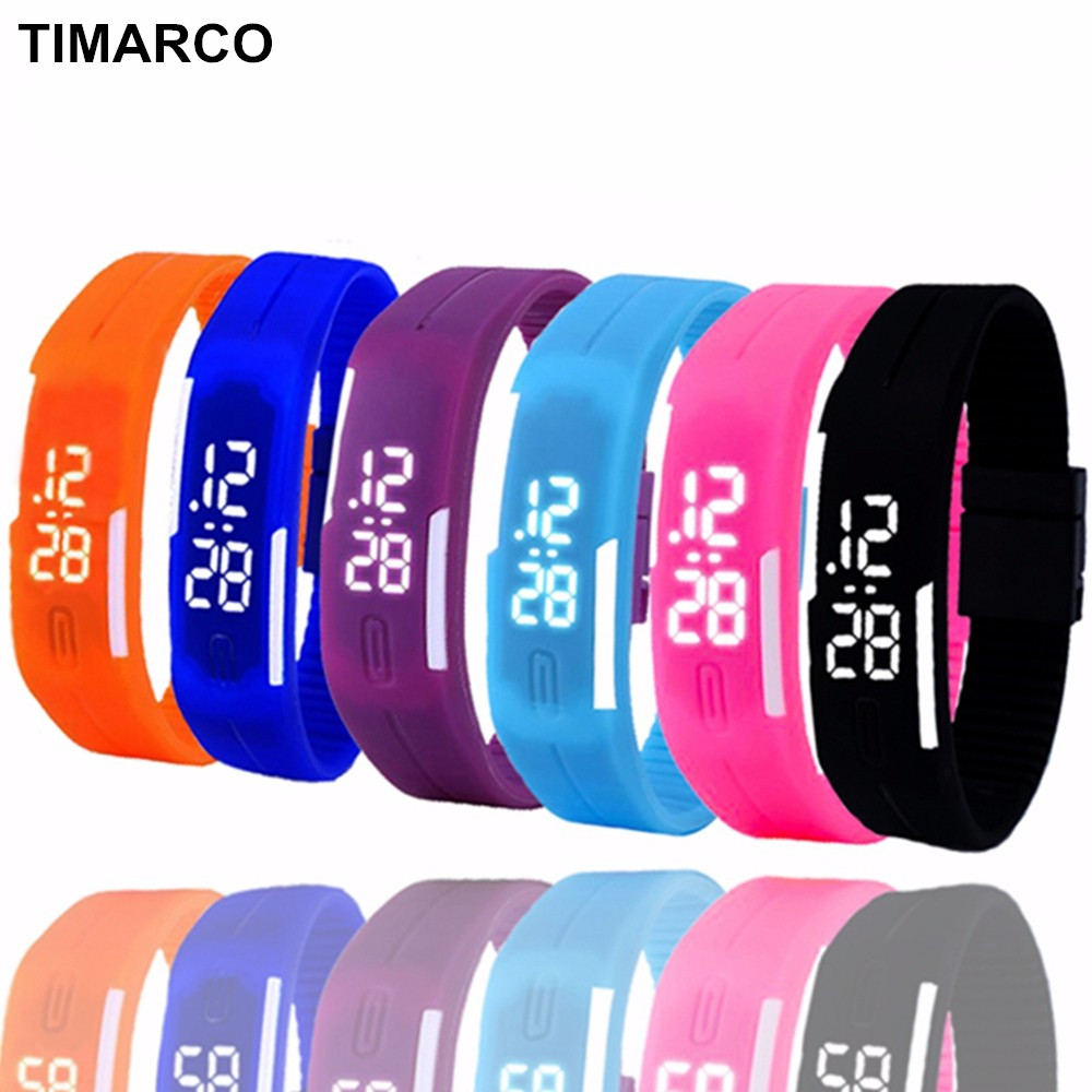 LED Sport Digital Watch Children Clock For Girls Boys Waterproof Students Wrist Watches Men Women Wristwatch Relogio Silicone