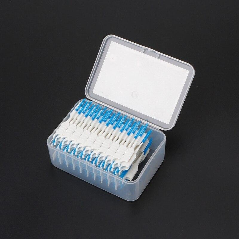 dcfdc6d2c 120 pcs Dupla Cabeça Fio Dental Higiene Dental Silicone Interdental Escova  Palito TONG7
