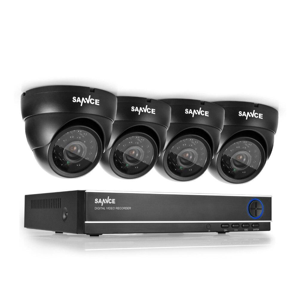 bilder für SANNCE HD 4CH CCTV-System 720 P DVR 4 STÜCKE 720 P 1200TVL IR Outdoor Videoüberwachung Sicherheit Kamera-system 4 Kanal DVR Kit
