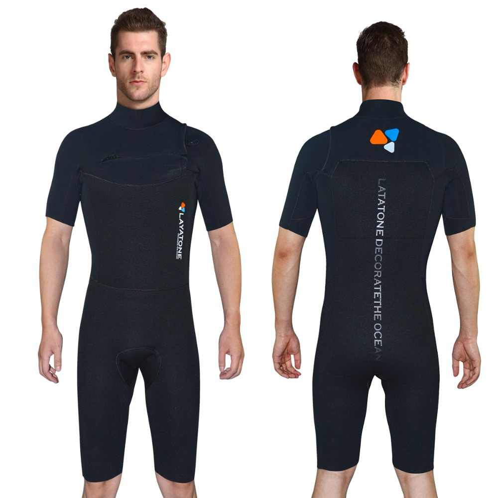 Layatone Wetsuit Shorty Men 3mm kombinezon neoprenowy do nurkowania Surfing Snorkeling Scuba kombinezon do nurkowania-jednoczęściowy strój kąpielowy kobiety mokre garnitury