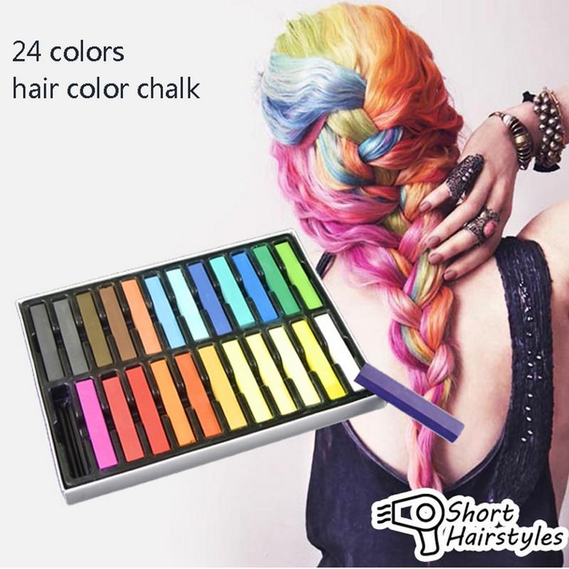 Hot Sale 1 Set 24 Colors Non Toxic Hair Chalk Diy Easy Temporary