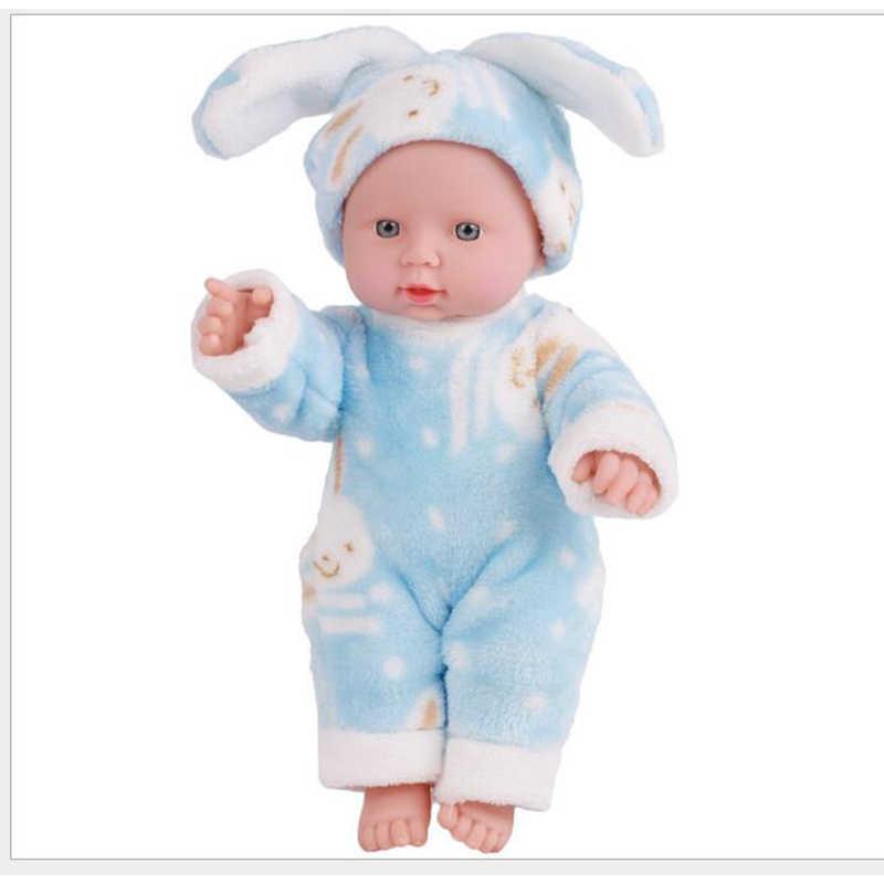 """12 """"30 см детские игрушки мягкие силиконовые Reborn Baby Реалистичная виниловая кукла черный Reborn Младенцы Куклы с одеждой для девочек"""