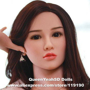 Realistic Silicone Sex Doll Heads Mannequins Head For Lifelike Adult Real Dolls Oral Sexy Products