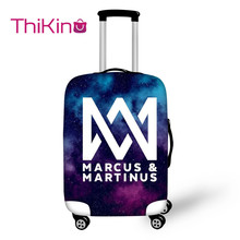 Thikin Marcus and Martinus Travel Luggage Cover for Teens School Trunk Suitcase Protective Bag Protector Jacket