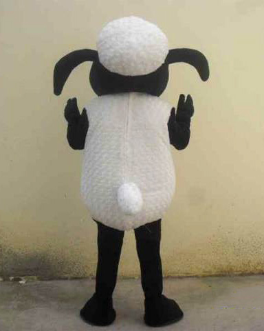 Shaun le mouton mascotte Costume mouton noir agneau mascotte Costume chèvre mascotte Costume déguisement Halloween Cosplay Costume - 3