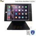 Tablet pc soporte para el ipad mini 1 2 3 4 titular de escritorio seguro con tienda de bloqueo de soporte de seguridad para kiosco POS soporte de exhibición