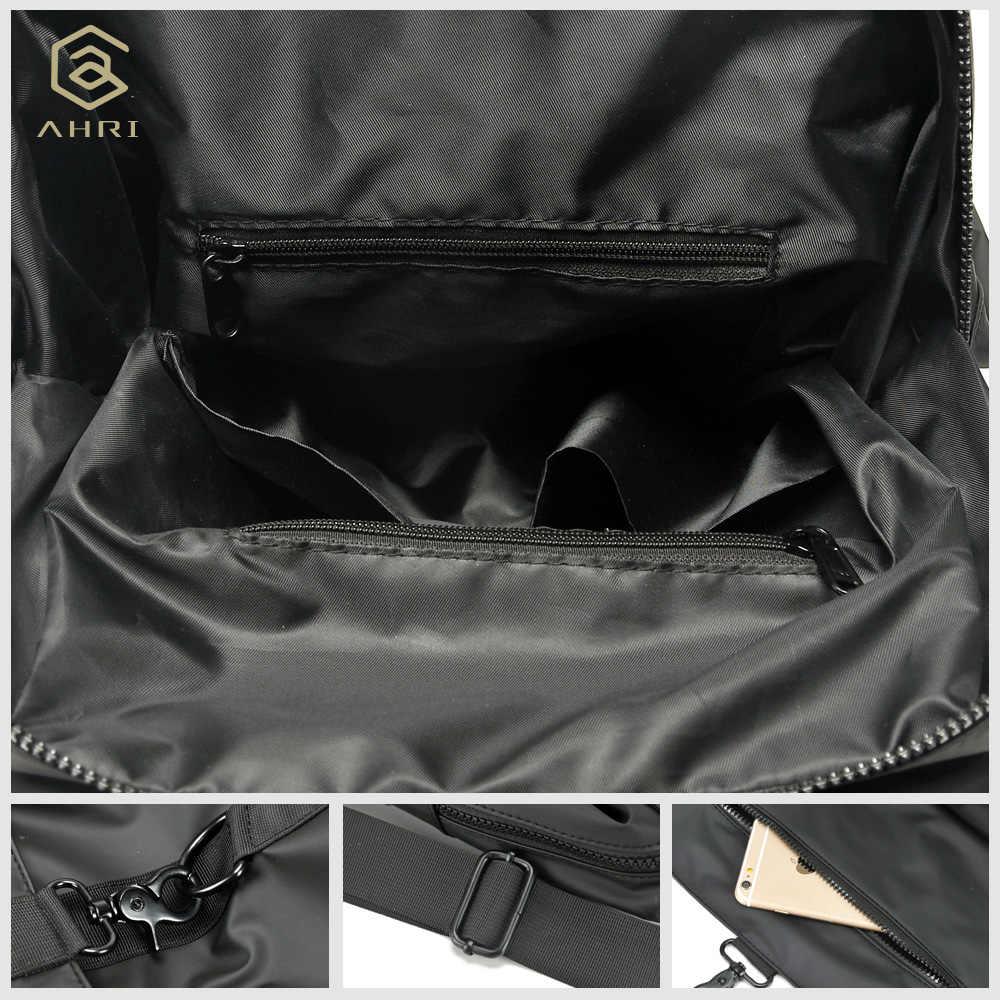 AHRI חם מכירות גברים מקרית שחור שקיות בציר אופנה בית ספר תרמיל Oxfrod גברים של כתף תיק עסקים בני תרמילי עבור גברים