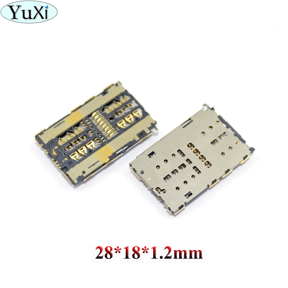 YuXi SIM Card Socket Slot Reader Holder For Huawei Ascend Honor 7 7i 5X V8 Y6 Pro Mate S For ZTE A2015 Axon S291 S521Grand S II
