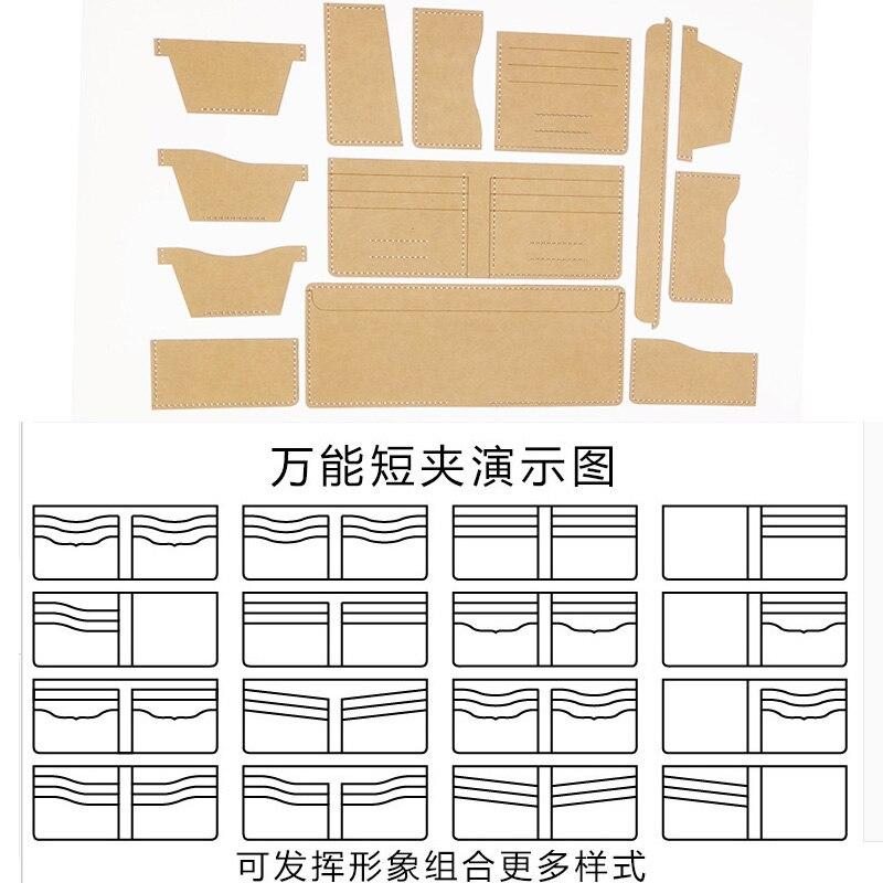 13pcs Universal Leather Craft font b Short b font Style money clips font b bag b