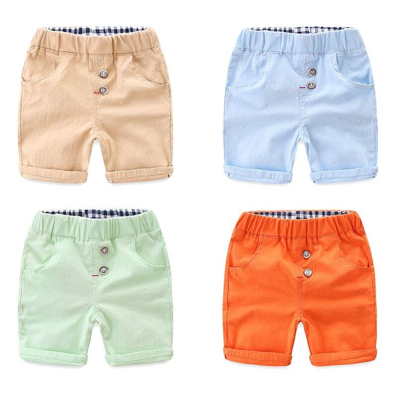 Pure color elastic children's pants cotton Slim models baby pants summer new children's clothing boy shorts pants new style korean slim pure cotton simple desing casual pants for men