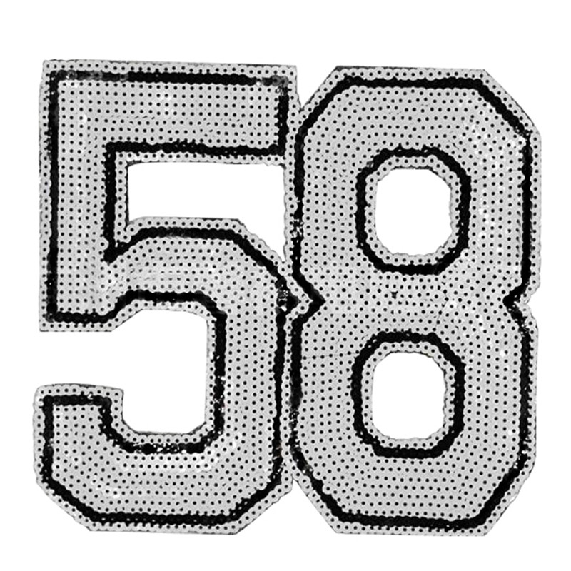 Clothing Women Shirt Top Diy Large Patch 58 White Sequins deal with it T-shirt girls letters Patches for clothes boy 3D Stickers
