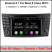 Quad Core Android 5.11 Car DVD Player For Benz E Class W211 W219 Car Stereo Headunit with Parrot Bluetooth Radio Canbus wifi obd