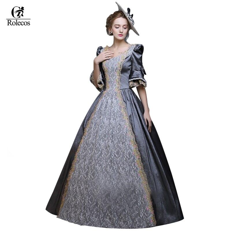 Rolecos Для женщин ретро Средневековый Ренессанс викторианской Платья для женщин принцессы бальные платья Платья для женщин маскарадные кост...