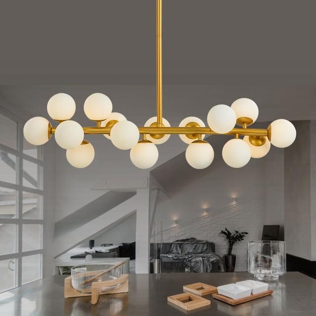 Moden kunst anhänger licht gold/schwarz magie bean led lampe ...