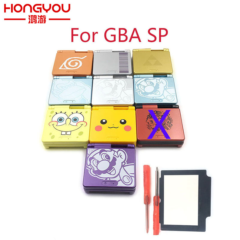 Cartoon Limited Edition Full Housing Shell replacement for Nintendo Gameboy Advance SP for GBA SP Game Console Cover Case кейс sp gadgets pov aqua uni edition case черный 53081