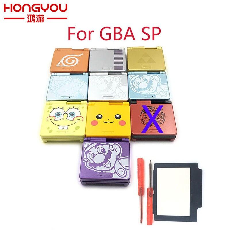 Edição Limitada dos desenhos animados Shell Habitação Completa substituição para Nintendo Game Boy Advance SP para GBA SP Console Do Jogo Da Tampa Do Caso