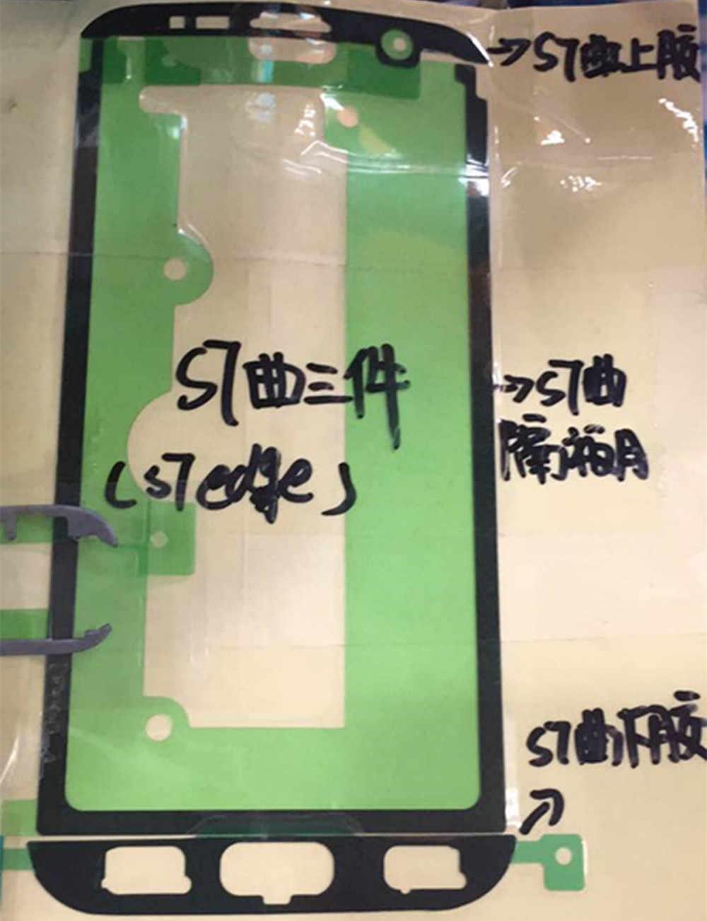 5 مجموعات الأصلي الكامل قبل قطع لاصق الشريط شاشة LCD الغطاء الخلفي البطارية ملصقا مجموعة لسامسونج غالاكسي S7 حافة G935 G935F
