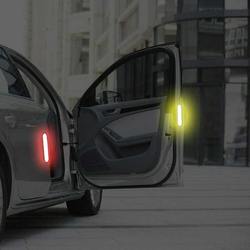 2019 Baru Aksesoris Mobil 2 Pcs Mobil Pintu Stiker Pita Peringatan Mobil Reflektif Stiker Strip Reflektif untuk Mobil Stiker