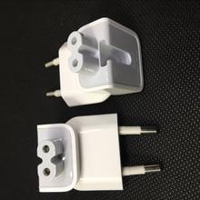 Echte Muur Ac Afneembare Elektrische Euro Stroomkabel Eu Plug Eend Hoofd Voor Apple Usb Lader Notebook Transfer Power Adapter