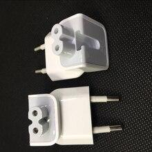 Genuine wall ac destacável cabo de alimentação elétrica euro plug ue cabeça pato para apple usb carregador notebook transferência adaptador energia