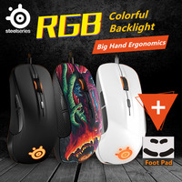 Gaming Mouse Steelseries RIVAL 300/300S Optical Mouse LED Ergonomics Brand computer accessories mouse gamer+1 Set Mouseskate