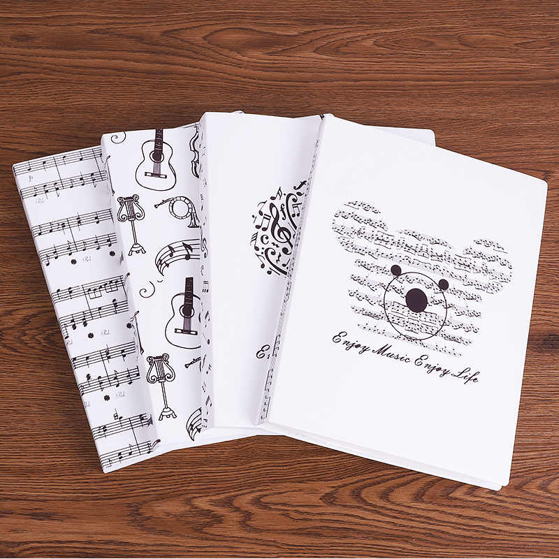A4 Size Music Score Collection Clip Document Paper Pockets Induction Folder Staff Sheet Storage Package Guitar Piano Accessories