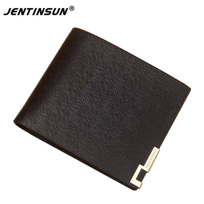 Hot Sale Quality PU Leather Men font b Wallets b font Short Design Bifold Business Credit