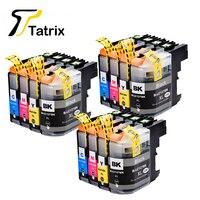 Cartucho de Tinta 12PK LC127 LC127XL LC125XL Compatível Para MFC-J245/J470DW/J650DW/J870DW J4410DW/J4510DW Impressora Com tinta completa