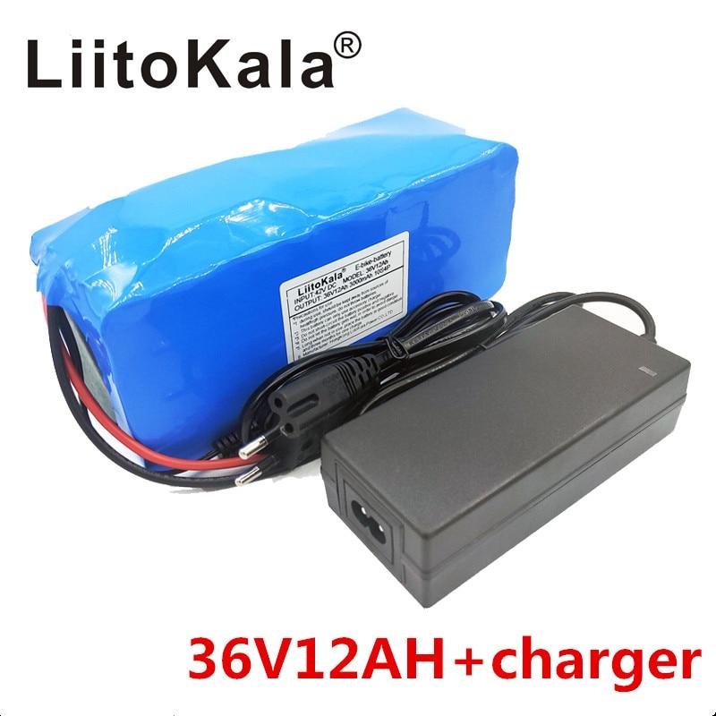 Image 2 - Новый LiitoKala 36 V 12AH электрический велосипедный аккумулятор встроенный литиевый аккумулятор BMS 20A 36 вольт с 2A зарядкой батареи Ebike-in Комплекты батарей from Бытовая электроника