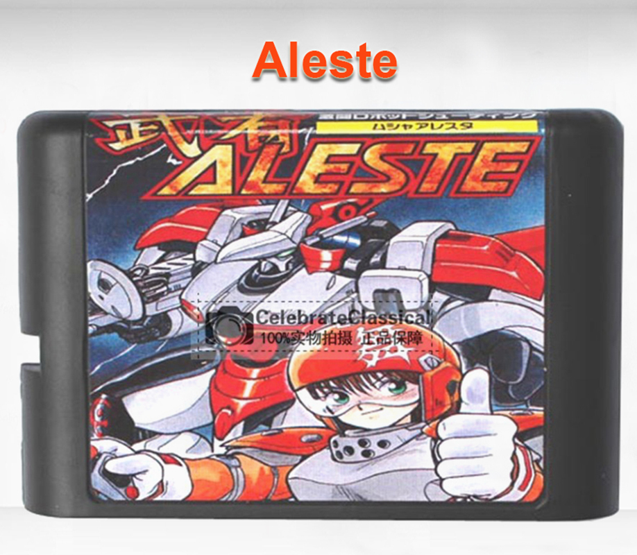 Aleste 16 bit MD Game Card for Mega Drive for Genesis EU/JP Shell