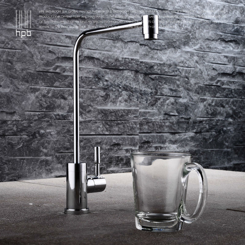 HPB Brass Lead-free Cold Water Kitchen Faucet Drinking Water Filter Tap Purified Water Spout Tap Torneira HP4404