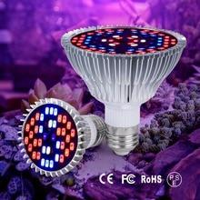 E27 Led Plant Grow Light Full Spectrum Flower Growing 30W 50W 80W Indoor 220V UV Lamp For Plants Seeds 110V