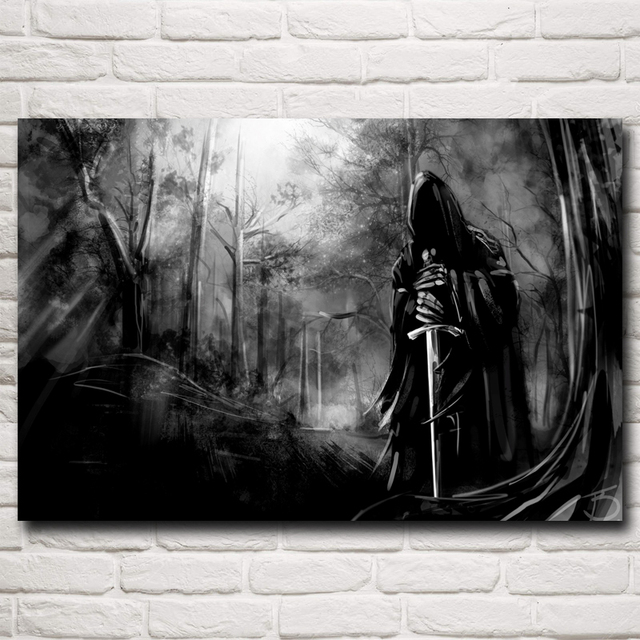 Sword Nazgul Artwork The Lord of  the Rings Movie Art Silk Poster Home Decor Pictures 12×18 16X24 20×30 24×36 Inch Free Shipping