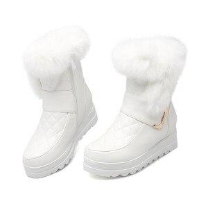 Image 4 - MORAZORA femmes bottes de neige haute qualité en cuir souple hauteur augmentant garde au chaud hiver bottines plate forme chaussures douces